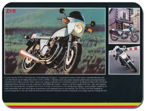 Vintage Classic Z1-R Motorbike Ad Mouse Mat. Motorcycle High Quality Mouse pad